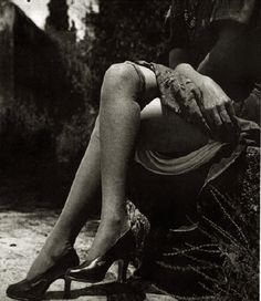 Photography by Juan Crisóstomo Méndez Ávalos (1885-1962), Summer of 1926, Untitled, From Serie Nudes in Puebla, México. #erotic #1920 #sepia