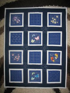 Blue quilt... would be great with denim sashing