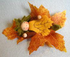 herfstpopje op blad