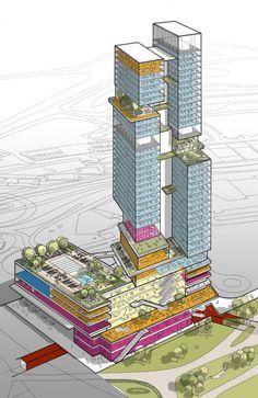 Architecture Design, Architecture Concept Diagram, Architecture Graphics, Architecture Drawings, Futuristic Architecture, Landscape Architecture, Architecture Diagrams, Chinese Architecture, Architecture Office