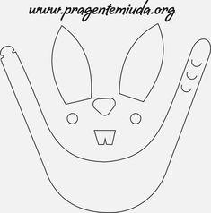 Viseira e coelhinhos porta-bombons - Páscoa