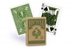 Cartes Bicycle Edition Eco (vert) - Pokeo.fr - Jeu de 52 cartes de poker plastifiées Bicycle au format Poker Regular, dos vert. Édition écologique.
