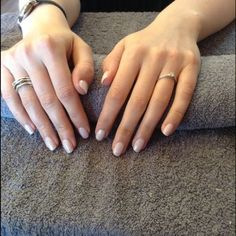 Shellac romamtique with faded glitter