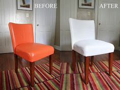 DIY Painted Vinyl: The dramatic before & after!.... rustoleum spray paint for vinyl