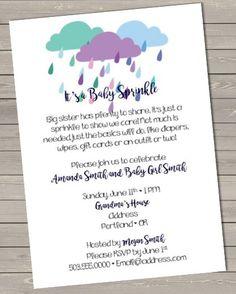 A Baby Sprinkle https://www.etsy.com/listing/288477155/sprinkle-baby-shower-invitation