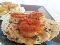 Noix de tofu sur fondue de poireaux