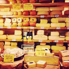 Cheese from De Kaaskamer van Amsterdam: .Not only will you find ALL the cheese here, they also have super tasty brown bread, juicy olives and delicious meats. If you want to stop by for a quick lunch, ask for a truffle cheese baguette.