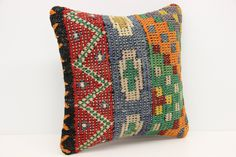 Home decor Kilim pillow cover 14x14 inches Oriental pillows Turkish handmade kilim pillow Vintage Cushion covers Throw pillow SL-80 by stripepattern on Etsy