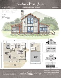 Plan Details – Natural Element Homes Pole Barn House Plans, Pole Barn Homes, Dream House Plans, Small House Plans, House Floor Plans, Barn Plans, Tiny Home Floor Plans, Dog Trot House Plans, Barn Style House Plans