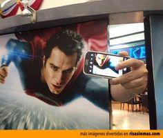 Autofoto de Superman.