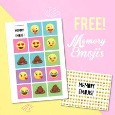 {Free} Memory emojis à imprimer! Moma le blog