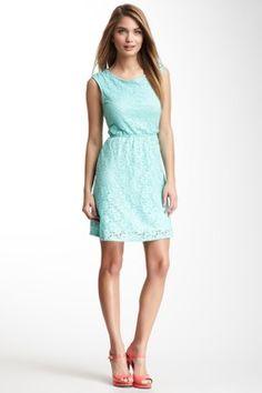 Cutout Bow Back Lace Dress