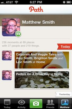 Path App User Profiles, Images, Activity