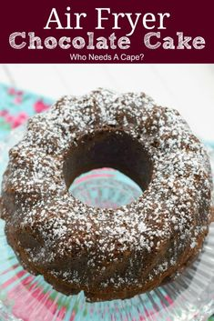 Make this delicious Air Fryer Chocolate Cake when you need a smaller size dessert. Scrumptious homemade cake that's done in no time can't beat that. Best Dessert Recipes, Cupcake Recipes, Fudge Recipes, Sweet Recipes, Cupcake Cakes, Cupcakes, Amazing Recipes, Easy Recipes, Tasty Chocolate Cake