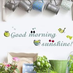 Brewster Home Fashions Euro Good Morning Sunshine Wall Decal