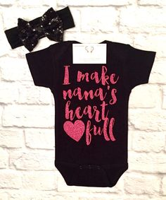 A personal favorite from my Etsy shop https://www.etsy.com/listing/509412935/baby-girl-clothes-nana-shirts-i-make
