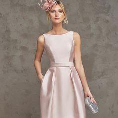 Abito Corto Cerimonia 2016 Collezione Pronovias Colore Rosa