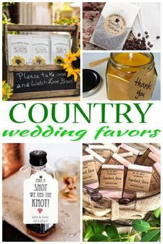 Wedding Favors! The best Country wedding favors! Send your guests home with gifts they will love! From classy, useful, cheap, DIY, creative, unique, elegant and tons more ideas. Amazing ideas that friends and family will want from a themed Country wedding.
