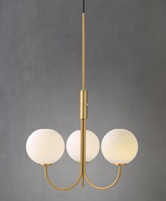 Ballon Taklampa LED mässing/vit
