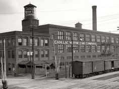 The original 1902 factory for the Cadillac Motor Car Company.