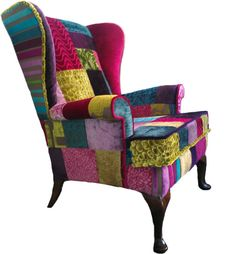Patchwork chair designed by Katie Moore.co.uk