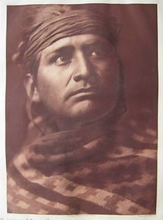 A Chief of the Desert - Navaho 1907 Edward Curtis photo