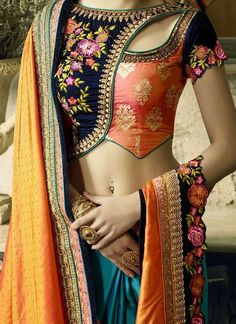 Heres the best new blouse styles - sexy blouse, traditional blouses, lehenga blouse and latest saree blouses to flaunt your best features for your body type Stylish Blouse Design, Fancy Blouse Designs, Sari Blouse Designs, Designer Blouse Patterns, Blouse Styles, Blouse Designs Wedding, Latest Blouse Designs, Designer Saree Blouses, Choli Designs