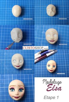 Best 12 make a ball of dough in a light skin color, mark with your thumbs to form the – SkillOfKing. Fondant Face Tutorial, Fondant Figures Tutorial, Cake Topper Tutorial, Polymer Clay Figures, Polymer Clay Dolls, Polymer Clay Crafts, Fondant Cake Toppers, Fondant Cakes, Elsa Torte