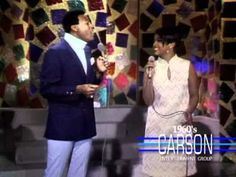 """Marvin Gaye & Tammi Terrell Sing """"Ain't No Mountain"""" on The Tonight Show With Johnny Carson - 1960s"""