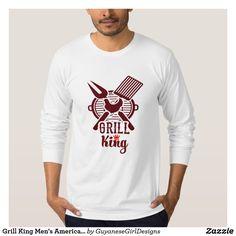 Grill King Men's American Apparel Jersey Long Slee