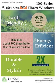 Infographic for Andersen Fibrex 100-Series Windows by Opal Enterprises - Opal