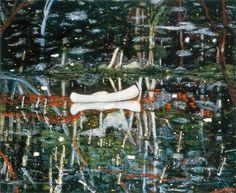crystalline-aesthetics:   Peter Doig  White Canoe....