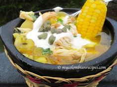 Ajiaco Colombiano (Colombian Chicken and Potato Soup) Chicken Potato Soup, Chicken Soup Recipes, Potato Recipes, Creamy Chicken, My Colombian Recipes, Colombian Cuisine, Columbia Food, Columbian Recipes, Soup Kitchen