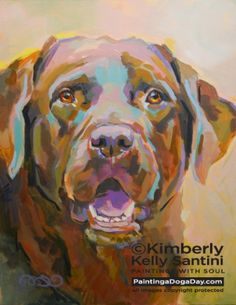 Reilly, painting by artist Kimberly Kelly Santini