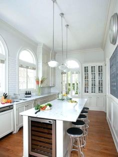 Incredible Galley Kitchen Design With A Long Island The