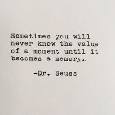Dr. Seuss Memory Quote Typed on Typewriter by LettersWithImpact