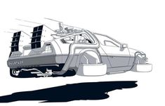 #geeky #geek #nerd #nerdy #comics #popart #geekhumor #geekjokes #nerdlife #geekapparel #nerdapparel Dmc Delorean, Delorean Time Machine, Back To The Future Tattoo, Sketch Manga, The Future Movie, Hip Hop Art, Car Illustration, Fancy Cars, Car Posters