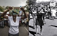eNCA looks from iconic images that marked the student struggle in 1976 to images from the current generation's FeesMustFall and StatuesMustFall movements. Current Generation, Then And Now, Affair, Punk, History, Modern, Pictures, Image, Photos