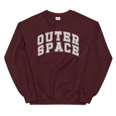 Outer Space, Hoodies, Sweatshirts, Rib Knit, Crew Neck Sweatshirt, Campaign, Medium, Tees, Check