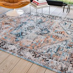 Louis de poortere antique heriz rugs 8705 in seray orange buy online from the rug seller uk Blue Colour Palette, Fashion Room, Orange, Interior Inspiration, Contemporary, Rugs, Vintage, Stuff To Buy, Design