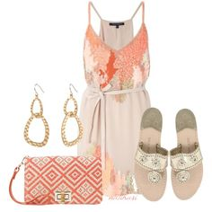 """Coral Reef Summer Outfit"" by natihasi on Polyvore"