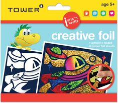 Creative Foil is the perfect creative yet mess free craft! Children rub sparkling colour foils onto pre-designed sticky surfaces. The end result shines beautifully! Office Organisation, Age, Adhesive, Arts And Crafts, Tower, Colour, Design, Children, Work Office Organization