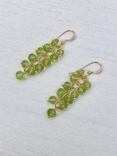 Peridot,knotted earrings,statement earrings,bridesmaid jewelry,beaded earrings,boho jewelry,green earrings,seed beaded jewelry,gifts for her