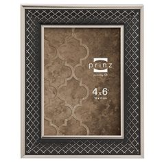 prinz carlisle frame with lattice pattern in black and nickel finish 4 by 6