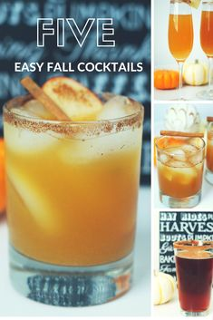 Fall is all about the PSL ( for those hiding under a rock, Pumpkin Spice Latte) and Salted Caramel Mocha but sometimes you need a REAL drink. Something that will help you unwind after a long day or… Fall Mixed Drinks, Fall Drinks Alcohol, Alcohol Drink Recipes, Cocktail Drinks, Fun Drinks, Yummy Drinks, Cocktail Recipes, Beverages, Alcoholic Drinks