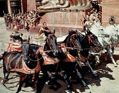 Ben-Hur movie scene - Parade of the Charioteers