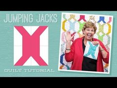 """Make a """"Jumping Jacks"""" Quilt with Jenny Doan of Missouri Star! Star Quilts, Scrappy Quilts, Easy Quilts, Quilting Tips, Quilting Projects, Quilting Designs, Sewing Projects, Charm Pack Quilts, Charm Quilt"""