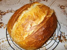 Kovászos burgonyás fehér kenyér   Betty hobbi konyhája Bakery, Cooking, Breads, Food, January, Kitchen, Bread Rolls, Essen, Bread