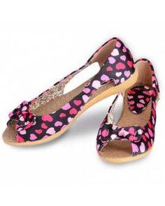 bowtie fretwork flat open toe summer shoes