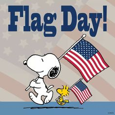 SNOOPY & WOODSTOCK~FLAG DAY